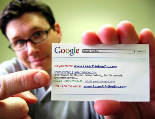 Business card as search result