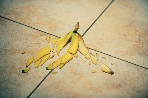shattered banana peel
