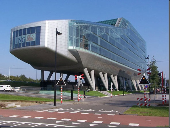 ING Headquarters ( Amsterdam , Netherlands)
