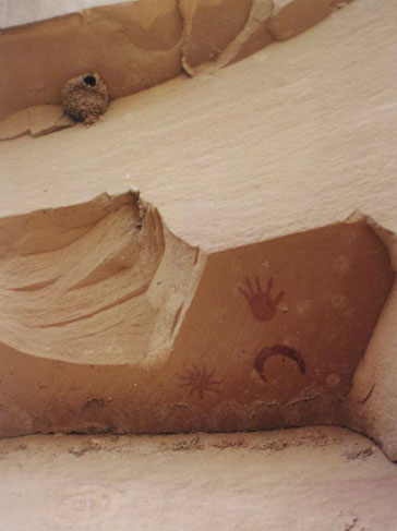 Chaco canyon super nova petroglyph by by P. Charbonneau, O.R. White, and T.J. Bogdan.jpg