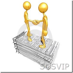 VIP aperto de mão