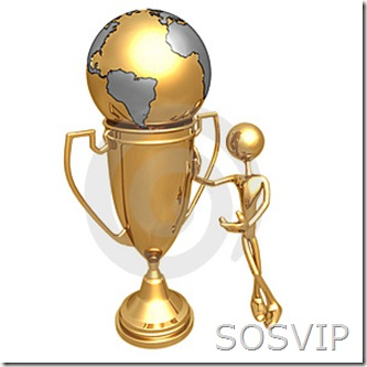 VIP mundo em copo troféu
