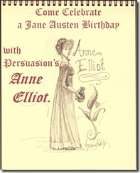 Anne Elliot birthday invitation