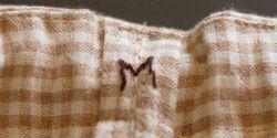 手縫いの刺繍 オーガニックコットン・トランクス ひもで結ぶタイプ 男性用