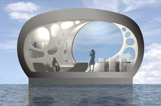 Tafoni Floating Home Design by Joanna Borek-Clement