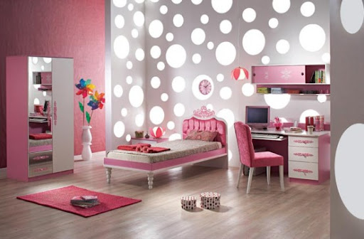 Lovely Pink Bedroom Design for Lovely Girls