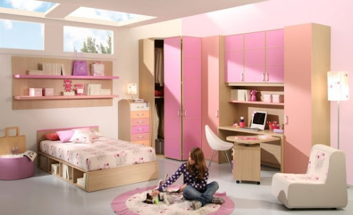pink bedroom, pink bedroom design