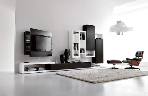 Modern and Multifunctional Wall Mount TV Stand from Fimar