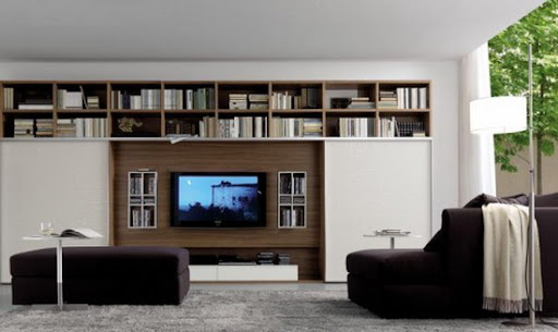 Modern and Inspiring Wall Units Design for Living Room