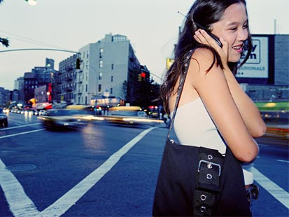 走路打手机