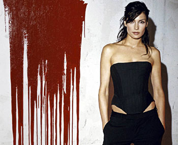 Famke 100 Feet Bloody Wall
