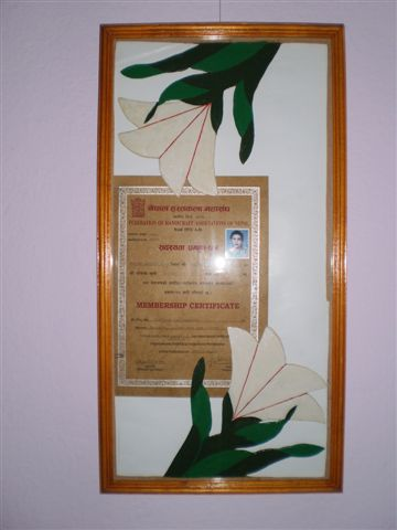 Frame for certificates/photos