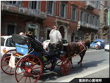 羅馬市區內搭載觀光客的馬車