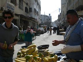 merchant in nablus souq - market