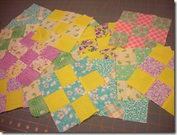Nine Patch quilt a long
