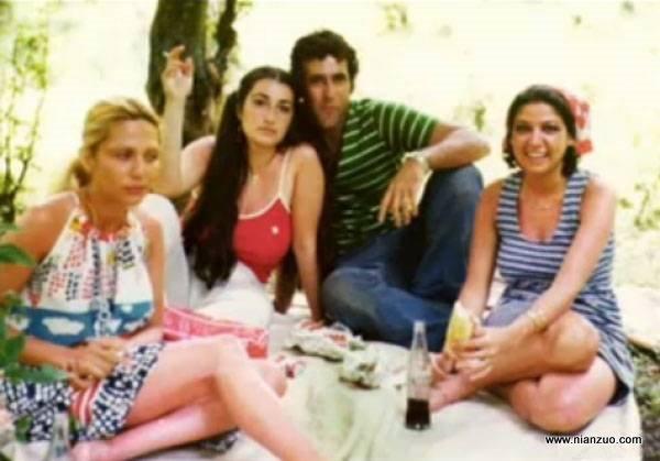宗教革命之前的伊朗 野餐的伊朗青年,还有可口可乐,郊游,野餐