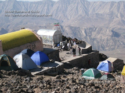 Damavand Mountain Crowded Bargah Sevom Campsite
