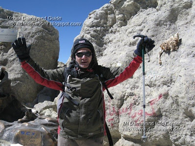 Ardeshir Soltani 1oo th Climb to Mount Damavand 30 Sep 2008