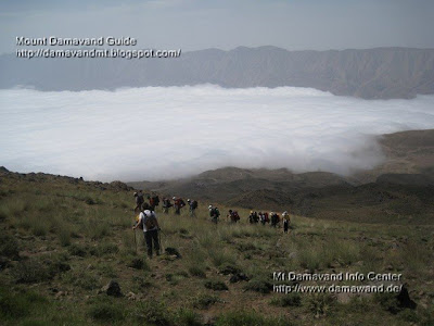 Mt Damavand Hiking & Trekking above cloud Photo by Sherpa