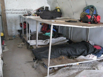 Accommodation in Mt Damavand south route Camp3 Bargah Sevom Shelter/Refuge