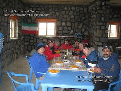 Accommodation in Mt Damavand south route Camp3 Bargah Sevom New Hut