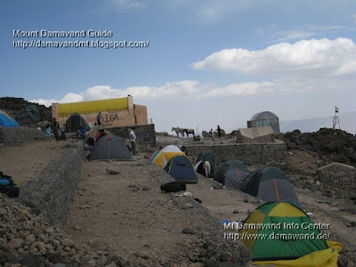 Accommodation in Mt Damavand south route Camp3 Bargah Sevom Tent