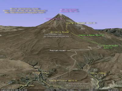 Google Earth MapMount Damavand
