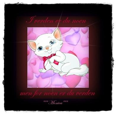 hearts-pink cat