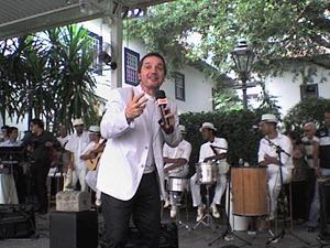 Milton Jungo no CBN São Paulo especial do aniversário da cidade, transmitido do Pátio do Colégio