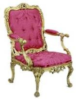 Cadeira em estilo rococo