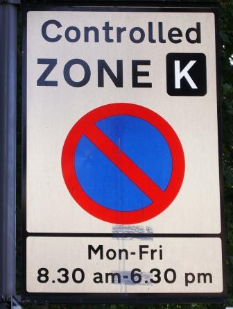 Controlled Parking Zone sign