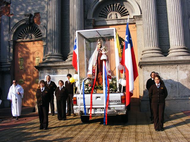 Curicó: Virgen del Carmen Misionera visita nuestro Santuario