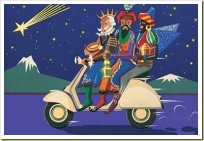 Reyes en moto