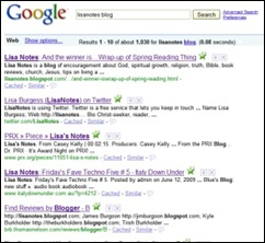 lisanotes google search
