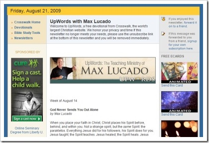 God Never Sends You Out Alone_Max Lucado