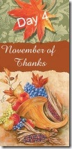November of Thanks 4 at 'Rebecca Writes'