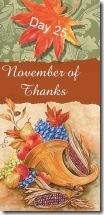 November of Thanks 25 at 'Rebecca Writes'