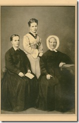 Jane Little Saunders on the left, her daughter & Isabella Hunter Saunders in the middle and Janes mother Elizabeth Pattie on the right