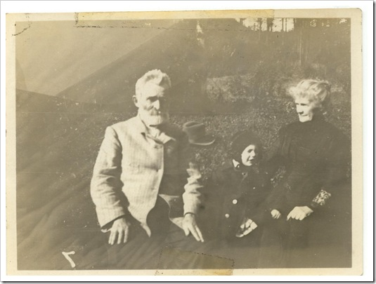 Regis, shortly before he died,and Isabella and daughter Louise