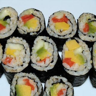 Smoked Salmon Sushi Roll