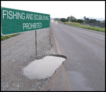 Pothole Brits Madibeng Pulse Jan282010
