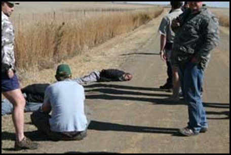 Boshoff Farm Attacker captured by FreeStateFarmUnionMembers