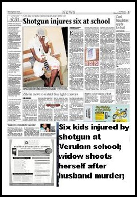 Verulem pupil injured and Widow kills herself TheMercuryFeb192010P3