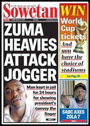 Zuma heavies attack jogger and jail him for 24 hours
