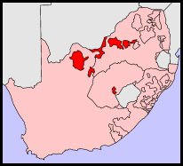 Bophuthatswana homeland for Tswana tribespeople during apartheid up to 1994