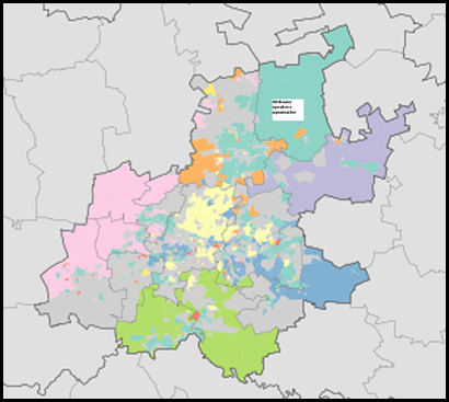 Home Languages in Gauteng Provence -- MAP wikipedia