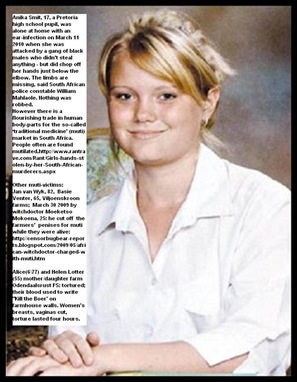 Smit Anika murdered hands chopped off raped Pretoria Mar112010