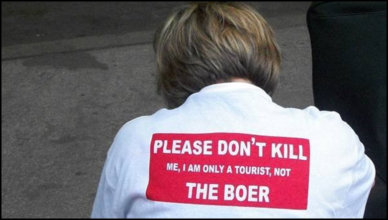 Boer WC2010 protest Please Dont Kill Me I am Only a Tourist Not The Boer