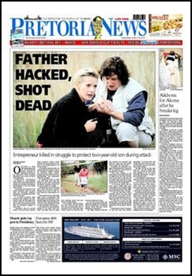 Human Dirk Hacked Shot to Death Boschkop Mooiplaats Pretoria AH April272010 PretoriaNewsFP (2)
