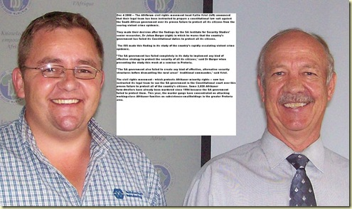 SA government has failed warn ISS director Johan Burger and Solidary KallieKrielDec42008
